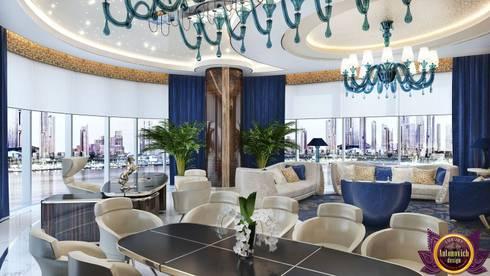 Elite Office Interior design of Katrina Antonovich: modern Study/office by Luxury Antonovich Design