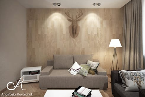 Apartment in Moscow: modern Study/office by Design studio by Anastasia Kovalchuk
