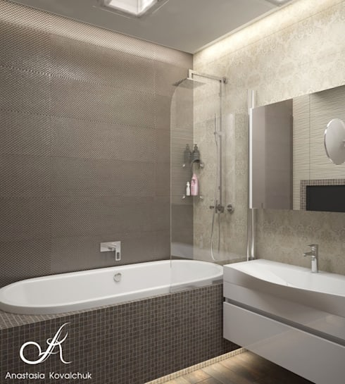 Apartment in Moscow: modern Bathroom by Design studio by Anastasia Kovalchuk