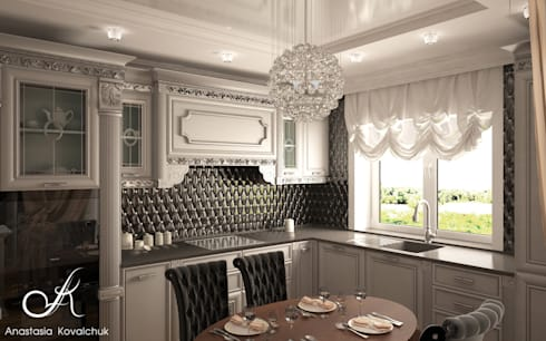 Townhouse in style of an art deco: classic Kitchen by Design studio by Anastasia Kovalchuk