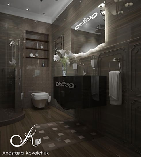 Townhouse in style of an art deco: classic Bathroom by Design studio by Anastasia Kovalchuk