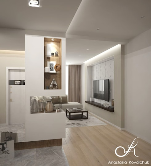 Apartment in a modern style in Moscow:  Corridor & hallway by Design studio by Anastasia Kovalchuk