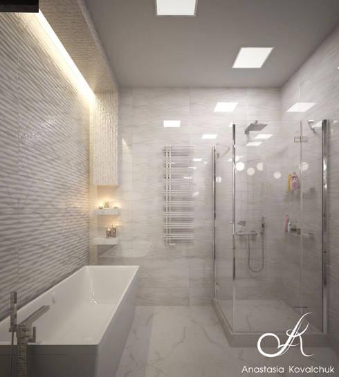 حمام تنفيذ Design studio by Anastasia Kovalchuk
