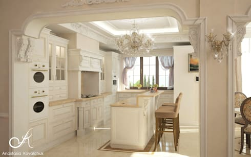 Villa: classic Kitchen by Design studio by Anastasia Kovalchuk