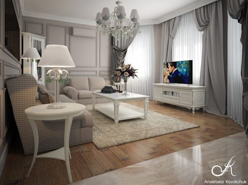 Villa: classic Living room by Design studio by Anastasia Kovalchuk