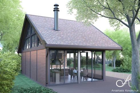 Pavilion: modern Houses by Design studio by Anastasia Kovalchuk