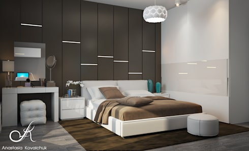Apartment in a modern style in Moscow: modern Bedroom by Design studio by Anastasia Kovalchuk