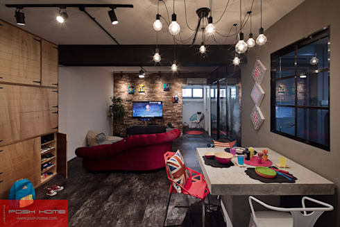 JELAPANG ROAD (BLOCK 502) - Posh Home: minimalistic Living room by Posh Home
