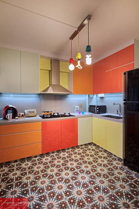 JELAPANG ROAD (BLOCK 502)—Posh Home: minimalistic Kitchen by Posh Home