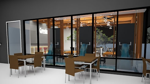 ร้านอาหารบ้านนาย:  บ้านและที่อยู่อาศัย by No.13 Design