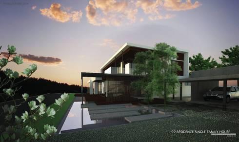 New family house design in progress @ Chiangmai - Doisaket:   by THESKULSTUDIO