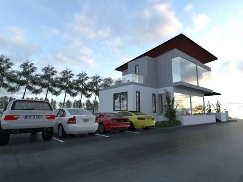 ออฟฟิตอู่ซ่อมรถ:  บ้านและที่อยู่อาศัย by No.13 Design