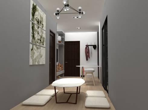 ตกแต่งห้องคอนโด:  ห้องทานข้าว by No.13 Design