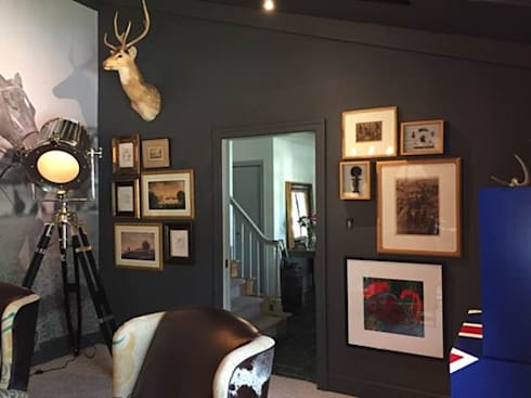 Gallery wall of Collectable art and objects: colonial Study/office by CKW Lifestyle
