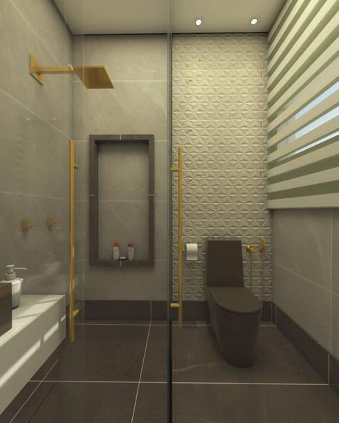 projeto-decoracao-design-interiores-casa-sobrado-estilo-moderno-alto-padrao: Banheiros  por Caio Pelisson - Arquitetura e Design