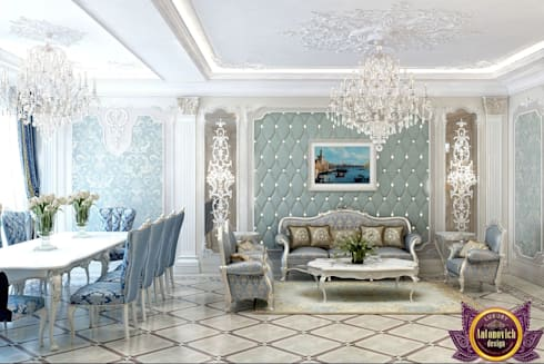 Masterpiece of interior design from Katrina Antonovich: classic Living room by Luxury Antonovich Design