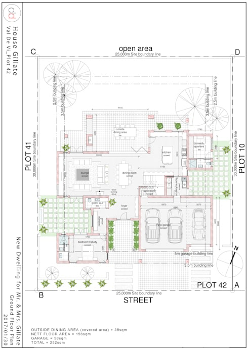 Ground Floor Plan:   by cld architects