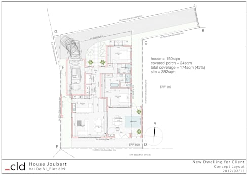 Ground Floor Plan Option 1:   by cld architects