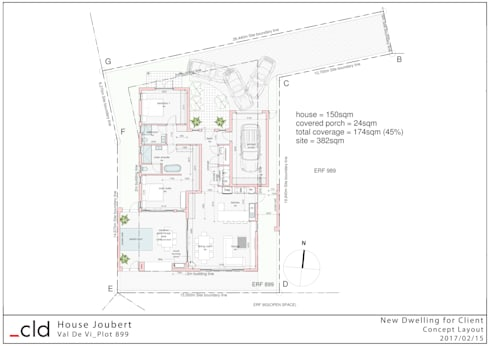 Ground Floor Plan Option 2:   by cld architects