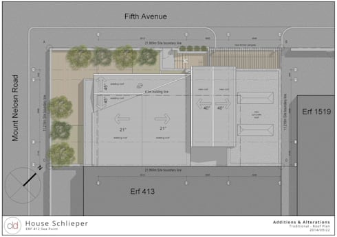 Roof & Site Plan:   by cld architects