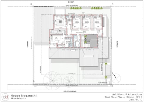 First Floor plan:   by cld architects