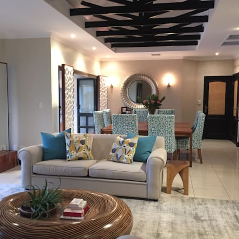 Zimbali makeover :   by Ground Floor Interiors