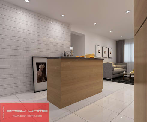 Dining Area- Tempanise Central: modern Living room by Posh Home