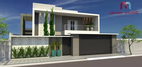 fachada residencial por mariana nicoletti arquiteta homify