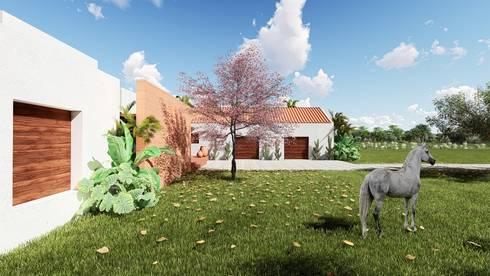 Hacienda Caribe Rojo.: Casas de estilo moderno por Pertopia