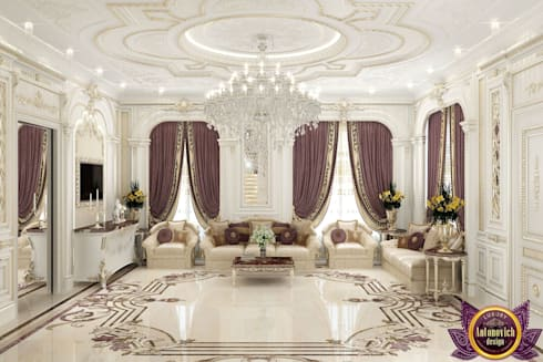 ​Most beautiful house Interiors from Katrina Antonovich: classic Living room by Luxury Antonovich Design
