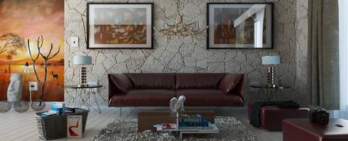 Modern African Living Space: modern Living room by Linken Designs