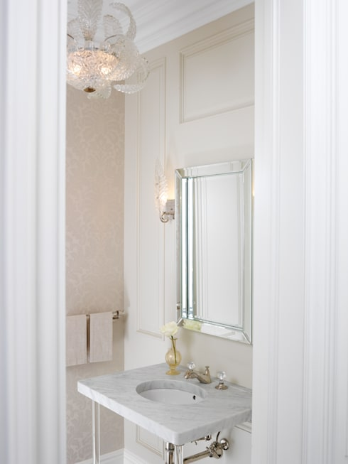 Powder Room: classic Bathroom by Douglas Design Studio