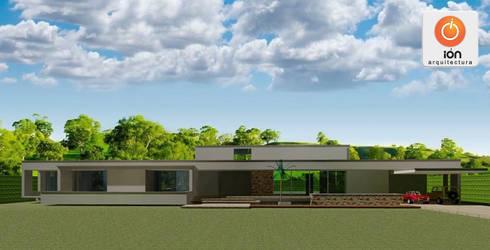 CASA DE UN COMPADRE: Casas de estilo minimalista por ION arquitectura SAS