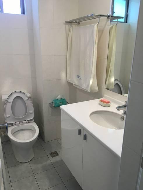 全屋翻新免百萬 20坪低預算高享受:  浴室 by 捷士空間設計