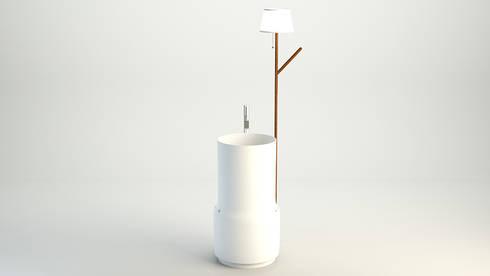 Lavabo Butler: Bagno in stile in stile Moderno di DiciannoveDieciDesign