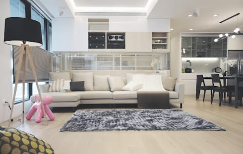 Lin's Residence 林宅:  客廳 by 構築設計