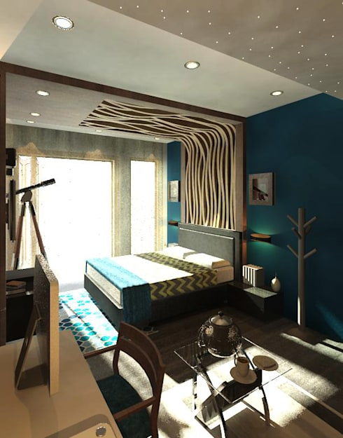 Sheth Residence:  Bedroom by Ramnani & Associates