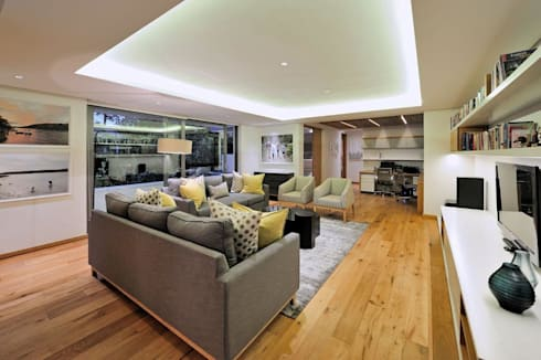 Project Stellenbosch: modern Media room by Dear Zania Interiors
