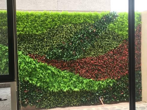 Muro verde por arquitectura org nica viviana font homify for Diseno de muros verdes