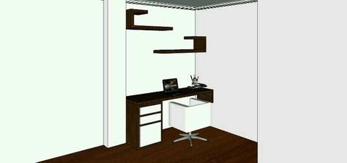 proyecto salitre: Estudios y despachos de estilo minimalista por Mobelmuebles