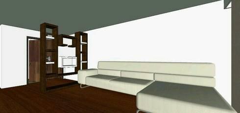 proyecto salitre: Salas de estilo minimalista por Mobelmuebles