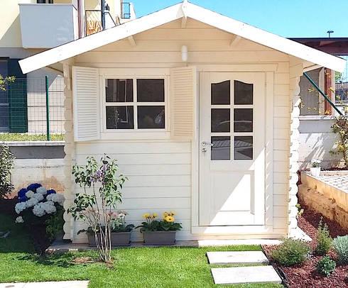 Casetta in legno da giardino 2 5x2 porta singola e - Casetta in legno da giardino bianca ...