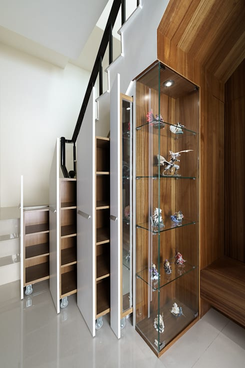 善化  貝森朵夫二期 :  走廊 & 玄關 by 橡樹設計Oak Design