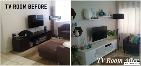 TV ROOM MAKE OVER:   by BEFORE & AFTER DECOR