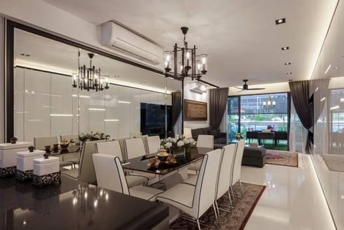 Bartley Residence Interior Design Singapore: minimalistic Dining room by Posh Home Interior Design