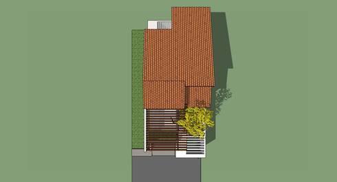 Planta de Techos: Casas de estilo moderno por MARATEA Estudio
