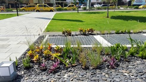Jardines Hotel Movich – Barranquilla: Jardines de estilo tropical por ecoexteriores