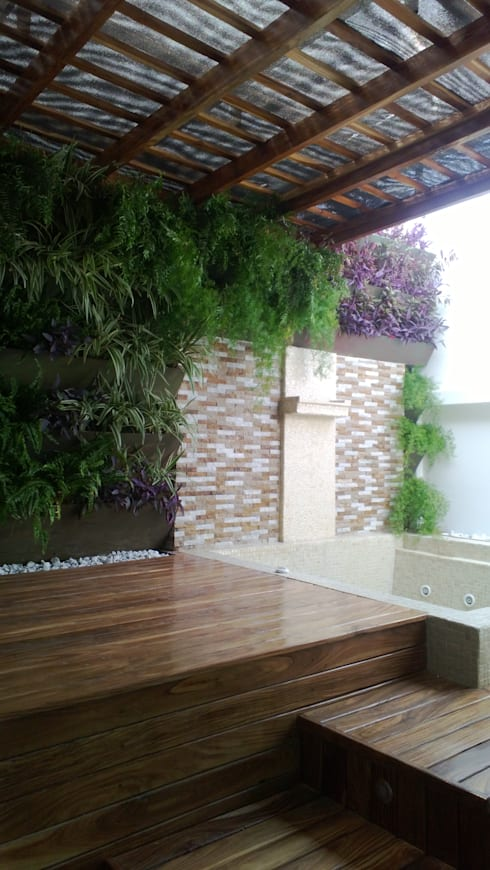 Fotos Varias de jardines – Barranquilla: Jardines de estilo tropical por ecoexteriores
