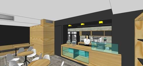 Perspectiva de la barra: Restaurantes de estilo  por MARATEA Estudio