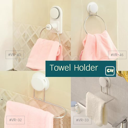 ที่แขวนผ้าเช็ดมือ ในทุกๆมุม ติดตั้งง่าย:   by Square Group Co.,Ltd.